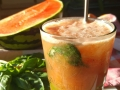cocktail pastèque et basilic façon mojito