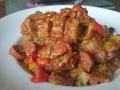 filet mignon aux 3 poivrons et chorizo