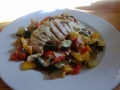 poulet aux légumes du soleil et sauce camembert