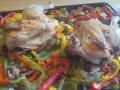 poulet rôti au thym et citron sur plaque 1