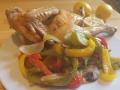 poulet rôti au thym et citron sur plaque 2