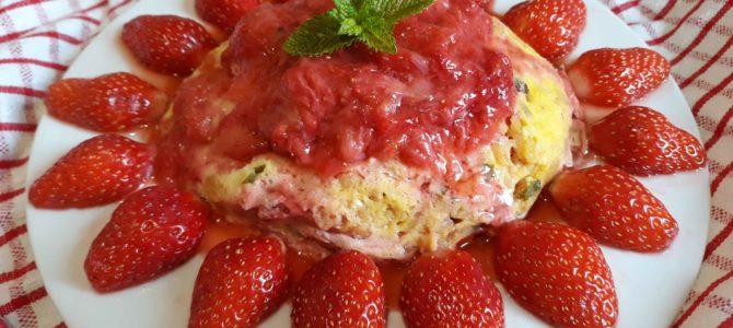Bowl cake aux fraises & à la menthe