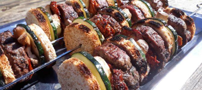 Brochettes de mini-burgers
