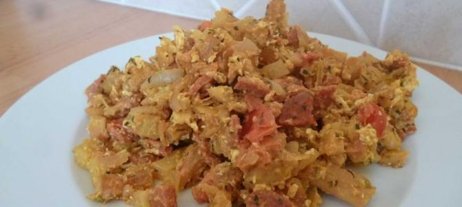 Chakchouka de frites ou comment recycler ses frites