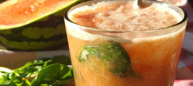 Cocktail pastèque & basilic, façon mojito