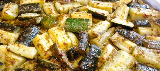 Frites de courgettes au pesto verde & au parmesan
