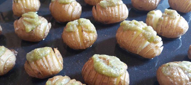 Pommes de terre grenaille au pesto verde, façon suédoise