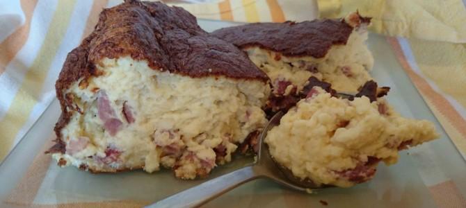 Soufflé au jambon et 3 fromages
