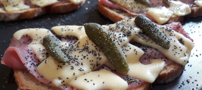 Tartines chaudes, façon jambon beurre
