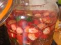 rhum arrangé fraises, menthe, vanille et sirop fleur de sureau 1