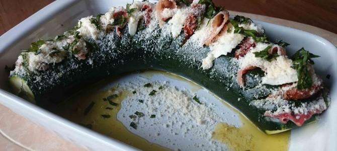 Courgette farcie à l'italienne