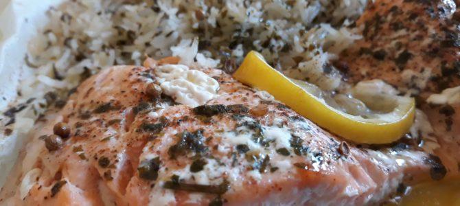 Papillotes de saumon au citron & à la coriandre
