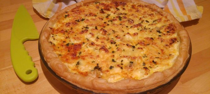 Quiche courgette & feta