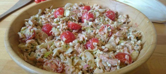 Salade d'endives & de saumon, vinaigrette gribiche