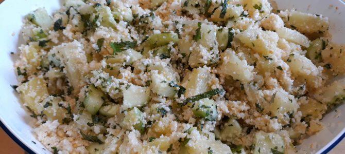 Taboulé de chou-fleur, concombre & ananas