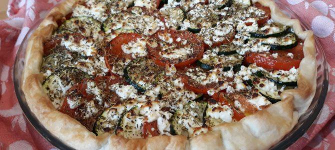 Tarte courgettes, tomates & feta